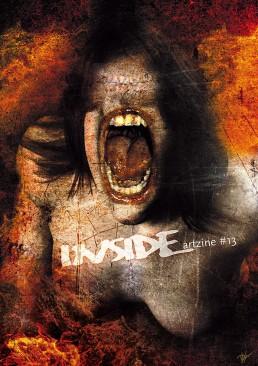 INSIDE atzine 13, cover, scream, no eyes, dark art