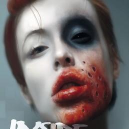 INSIDE artzine 17, cover, bloody mouth, dark art
