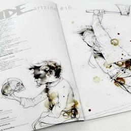 INSIDE artzine 16, axe murder, meaning of life, dark art
