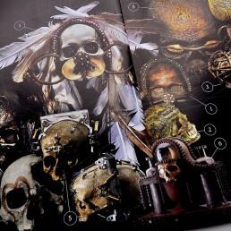 INSIDE artzine 18, art with human skulls