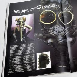 INSIDE artzine 15, report, gas mask, dark art