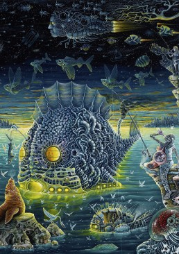 INSIDE artzine 18, RS Connett, surreal ship, dark art