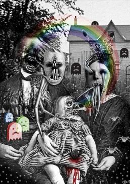 INSIDE artzine 17, collage, bizarre, dark art