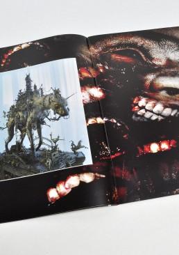 INSIDE atzine 13, dog sculpture, teeth, dark art