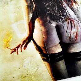 INSIDE artzine 16, wounded naked ass, dark art