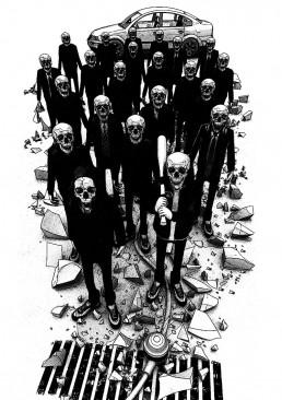INSIDE artzine 18, Sigid, Skull gang, dark art