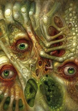 INSIDE artzine 19, Chris Mars, eyes, dark art