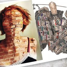 INSIDE artzine 19, brick face,dark art