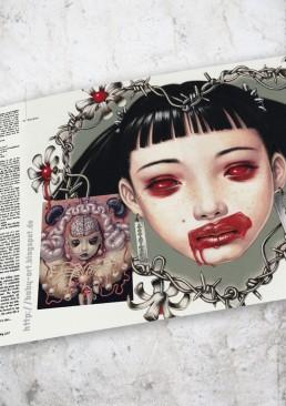 INSIDE artzine 19, Trevor Brown, Lipstick,dark art