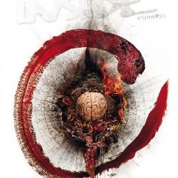 INSIDE artzine 21, Cover, Brain, Fire, Dark Art