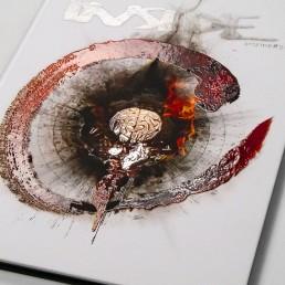 INSIDE artzine 21, Cover, relief lacaue, dark art