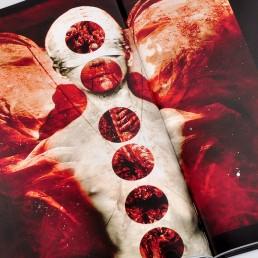 INSIDE artzine 21, absumaniac, angel, blood, Dark Art