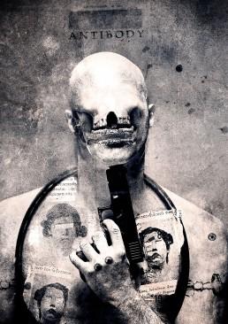 INSIDE artzine 21, Seth Siro Anton, gun, skull, suicide,Dark Art