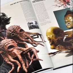 pages, masks, Bob Basset, Juan Cabana, Florida, gonzo journalism reports,dark art magazine