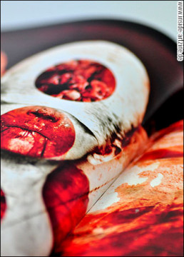 pages, absumaniac, blood, face, artscum, dark art magazine