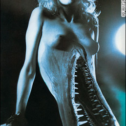 photo manipulation, naked woman, boobs, mouth full of teeth