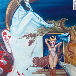 Jens Emde, surrealism, oil painting of adolf hitler looks like painted by salvatore dali, fuck nazis, artscum, dark art magazine