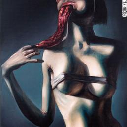 Karl Persson, Australia, tongue, female, nude, bizarre