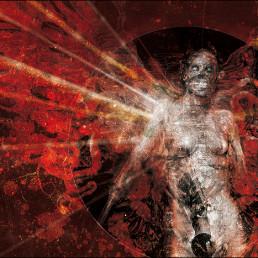 Ralph Manfreda, Austria, Angel, digital collage, red, artscum