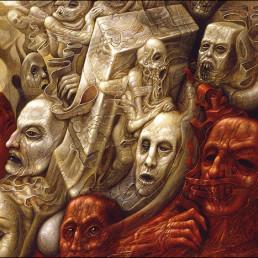 Chris Mars, painter, The Replacements, USA, sureal art, oli painting, schitzophrenia, screams, art scum