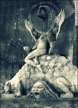 Marcin Owczarek, Poland, collage, surreallism, wings, dark art magazine