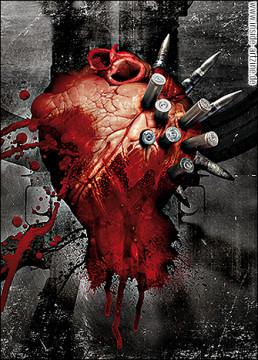 Viron v2.0, Italy, photo collage, heart, ammunition, artscum