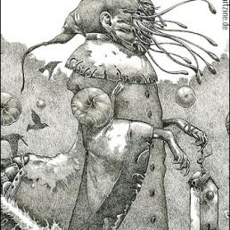 Richard A. Kirk, Canada, drawing, surreal, tentacles, art scum