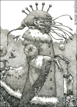 Richard A. Kirk, Canada, drawing, surreal, tentacles, art scum