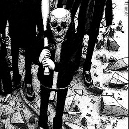 Sigied Yudhanto, Indonesia, drawing, black and white, skulls, baseball bat, art scum