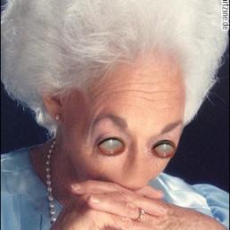 Phillip Kremer, USA, photo manipulation, old woman, bizarre, empty eyes