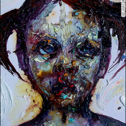 Christina Tzani, Greece, oil painting, child, misery, sadness, art scum