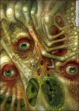 Chris Mars, painter, The Replacements, USA, sureal art, oli painting, schitzophrenia, screams, dark art magazine