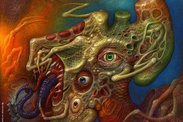 Chris Mars, painter, The Replacements, USA, sureal art, oli painting, schitzophrenia, hanford, nuclear contamination, malformation, eyes, tentacles, dark art magazine
