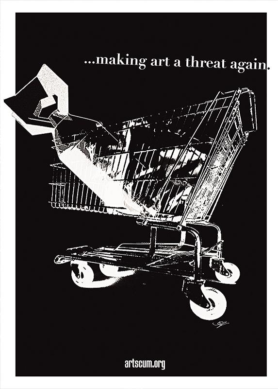 jenz dieckmann, Offset Poster A2, bomb in a trolley, dark art magazine