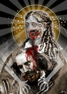 Joseph D. Myers, USA, classic collages, R.I.P., bizzare, grotesque, depression, madonna, 3 eyes, bite, strangle, artscum