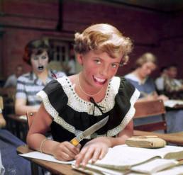 Joseph D. Myers, USA, classic collages, R.I.P., bizzare, grotesque, depression, school, knife, self-mutilation, artscum