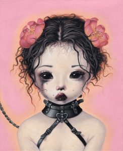 Trevor Brown, girl with sad eyes, dark art