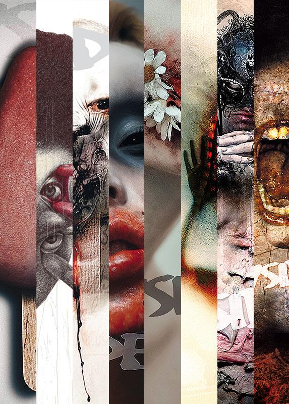 INSIDE artzine Cover number 13, 14, 15, 16, 17, 18, 19 and 21, special offer, magazine bundle, artscum, dark art magazine
