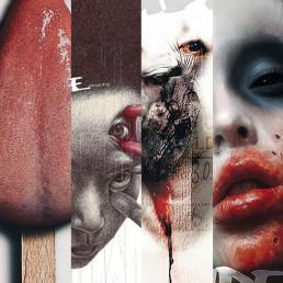 INSIDE artzine Cover number 17, 18, 19 and 20, special offer, magazine bundle, dark art magazine