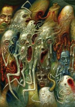 INSIDE artzine 21, Chris Mars, nightmare painting, dark art