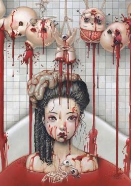 INSIDE artzine 21, Trevor Brown, bathtub, blood