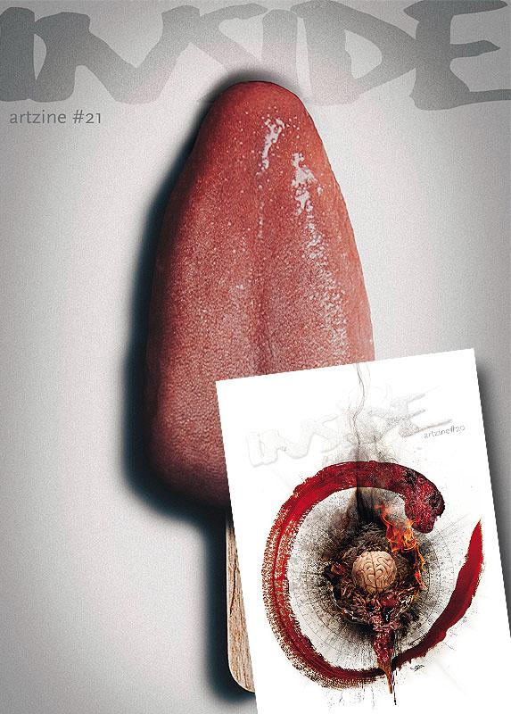 INSIDE artzine Cover number 20 and 21, special offer, magazine bundle, artscum, dark art magazine