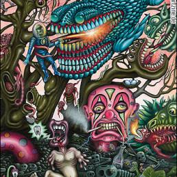 R.S. Connett, USA, painting, tooth, dentist, dark art magazine