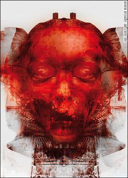 Absumaniac, Grzegorz lupa, Poland, closed eyes, dead, blood, digital manipulation