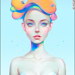 Christian Orillo, Chile, beautiful girl, big eyes, illustration, artscum