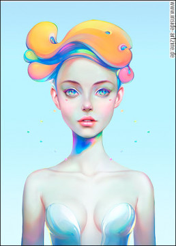 Christian Orillo, Chile, beautiful girl, big eyes, illustration, artscum