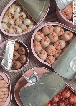 Qi Xuan Lim, Singapore, tooth hearts baby heads in cans, dark art magazine