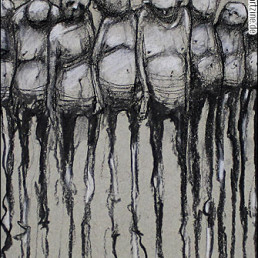 Nikos Bleb, greece, drawing, abstract barcode, artscum