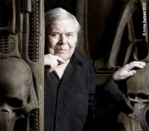 H.R. Giger, painter, Chur, Switzerland, portrait. smiling