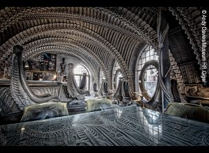 H.R. Giger, giger bar at the giger museum, Gruyères, Switzerland